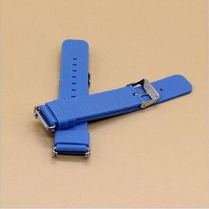 Image 2 - Remplacer le bracelet de montre intelligente pour le bracelet de montre Q90 Q750 Q100 Q60 Q80 bracelet de surveillance GPS pour enfants bracelet en Silicone avec connexion