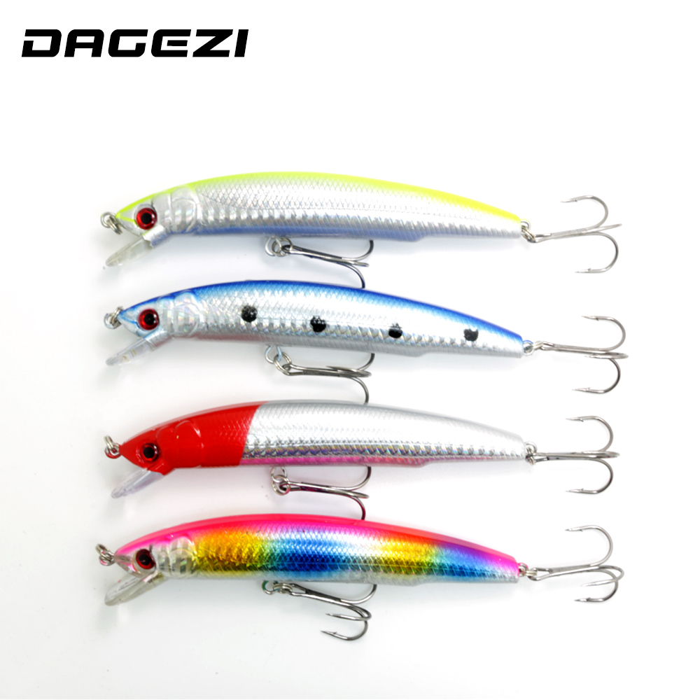 DAGEZI 4PCS/Lot Minnow Fishing Lures  DeepSwim Saltwater Hard Bait 15CM/18G Artificial Baits Minnow Fishing Spoon Wobbler Pesca 1pcs 12cm 14g big wobbler fishing lures sea trolling minnow artificial bait carp peche crankbait pesca jerkbait ye 37