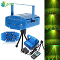 Green Red LED Stage Effect Light Sound Activation Star Starry Laser Projector for Festival Party Disco DJ KTV Club Bar Lamp