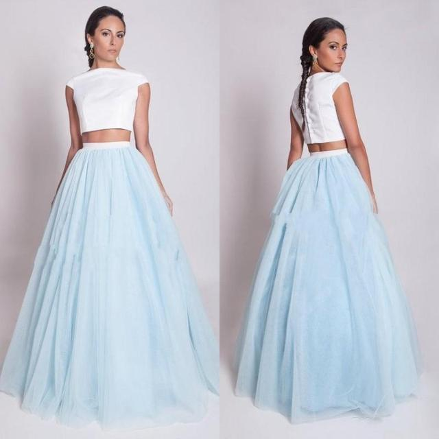 Summer Turquoise and White Wedding Dresses