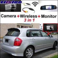 Liislee 3 in1 Special Camera Wireless Receiver Mirror Monitor Easy Parking System For KIA Sephia Sephia5 LD Hatchback 2003~2009