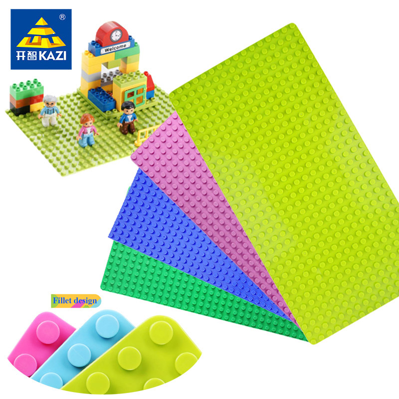 KAZI Minecrafted 32 16 Dots Large Size Baseplate Base Plate Building Blocks Bricks Solid Toys Compatible