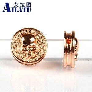 Ailatu 10 шт./лот монета с черепом очарование сделанное медью украшенное для DIY модные браслеты или ожерелье ювелирные изделия