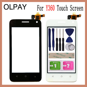 "OLPAY 4.0"" For Huawei Ascend Y360 Y336 Y3 Y336-U02 Touch Screen Glass Digitizer Panel Lens Sensor Glass Free Adhesive And Wipes"