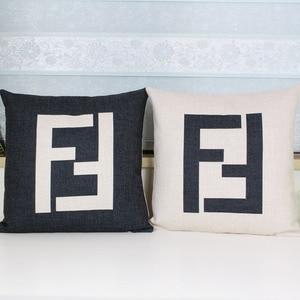 F pillow cover, Geometry Latti