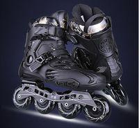 Лидер продаж! Роликовые коньки профессиональные слалом для взрослых роликовых коньках Обувь раздвижные катание хорошее качество
