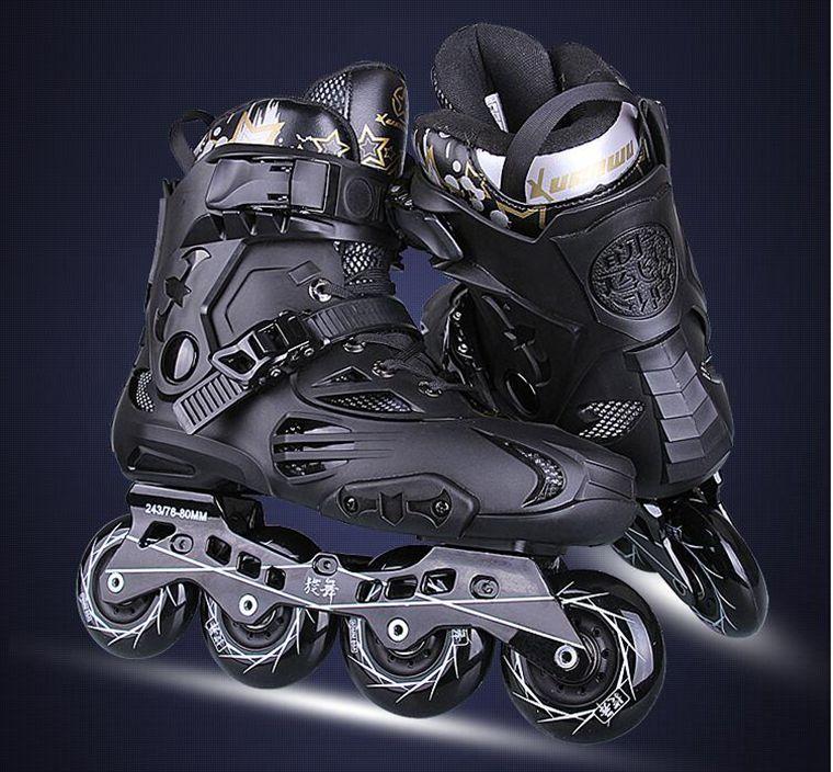Prix pour Vente chaude! Inline Patins Professionnel Slalom Rouleau Adulte De Patinage Chaussures Coulissante Livraison De Patinage Bonne Qualité