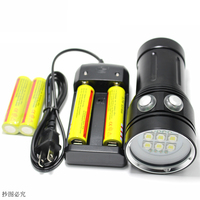 20000 Lumens Professional LED Diving Torch White Red UV Underwater Photo Light LED Underwater Photography Lights