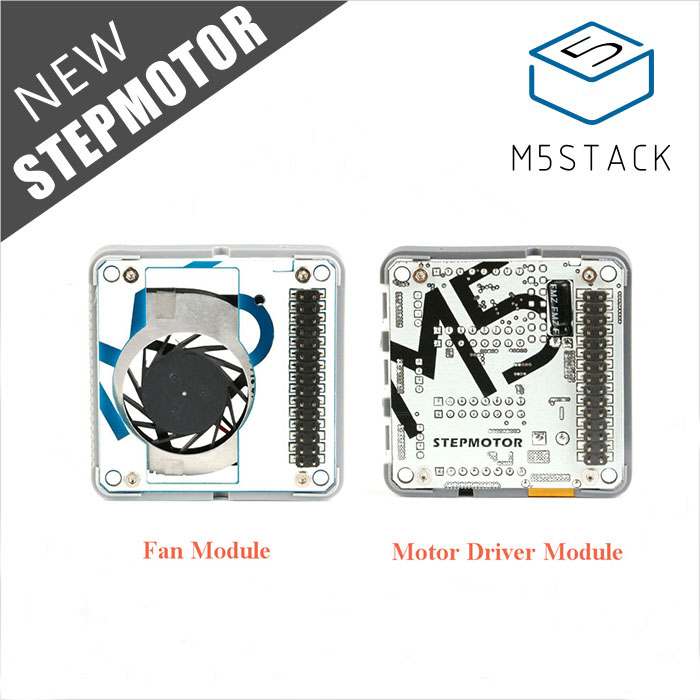 M5Stack Stepmotor Module For Arduino ESP32 GRBL 12C Step-Motor MEGA328P And Fan Module Optional M5Stack