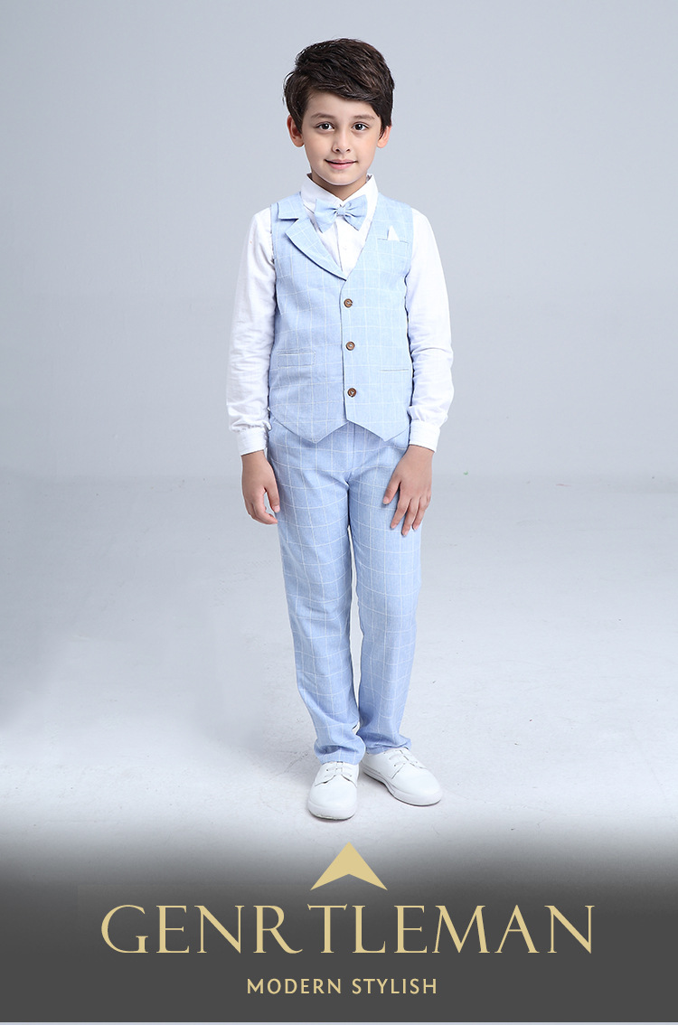 HTB1RmCAQXXXXXa.XFXXq6xXFXXXS - 2017 Boys Blazer Suit Kids Cotton Vest+Tie+Blouse+Pants 4 pieces/set Clothes Sets Boys Formal Blazers for Weddings Party EB156