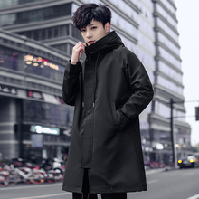 Trench Coat Mens Fashion Classic Windbreaker High Quality Korean Clothing Long Jackets and Coats Casual Overcoat Male