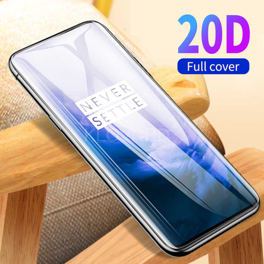20D Tempered Glass for Oneplus 7 Pro 7 Full Curved Cover Screen Protector Tempered Glass for One Plus 7 Pro Protective Film