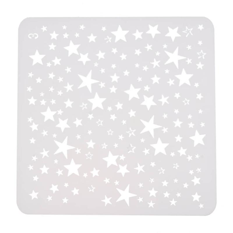 Plastic Hollow Ruler Star Pattern Stencil Embossing Die Template DIY Scrapbooking Photo Album Tools Painting Drawing Pochoir