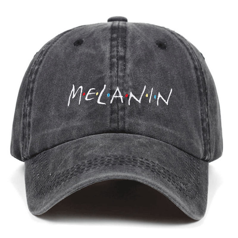 High Quality Cotton MELANIN Adjustable Washed   Baseball     Cap   Unisex Couple   Cap   Fashion Dad HAT Snapback   Caps   bone garros