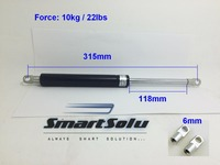 Free Shipping 22lbs 10kg 118 315mm Gas Spring Ball Studs Lift Strut Damper For AUTO