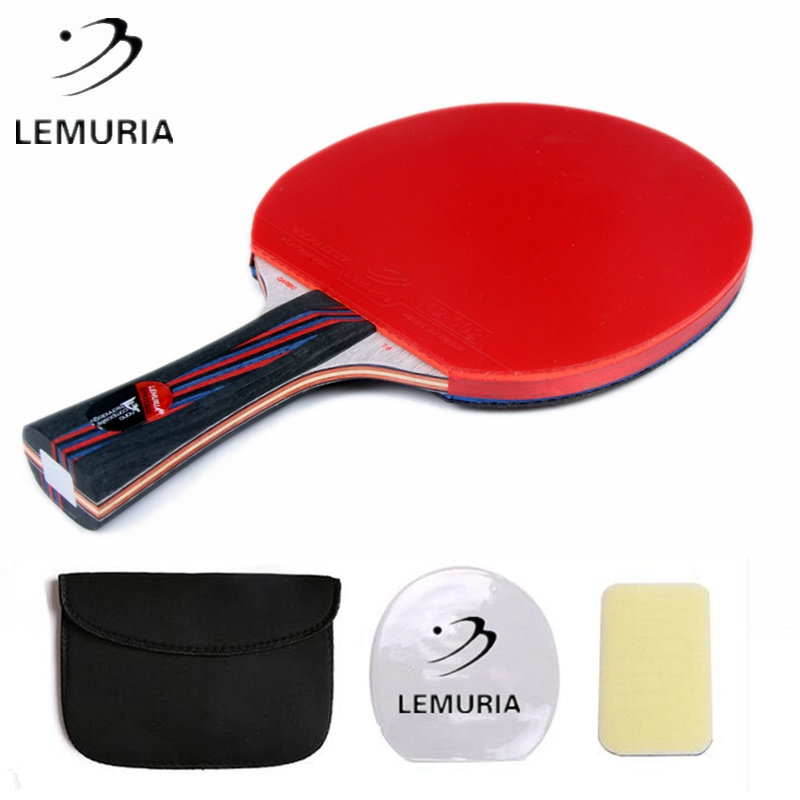 Lemuria Professional Carbon Fiber Table Tennis Racket FL Handle CS Handle Ping Pong Paddle With Pimples-in Table Tennis Rubber