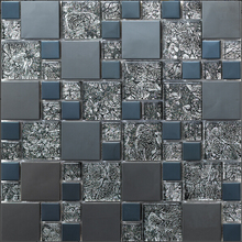 stainless steel metal glass mosaic tile kitchen backsplash bathroom wall tiles shower background hallway decorative wallpaper