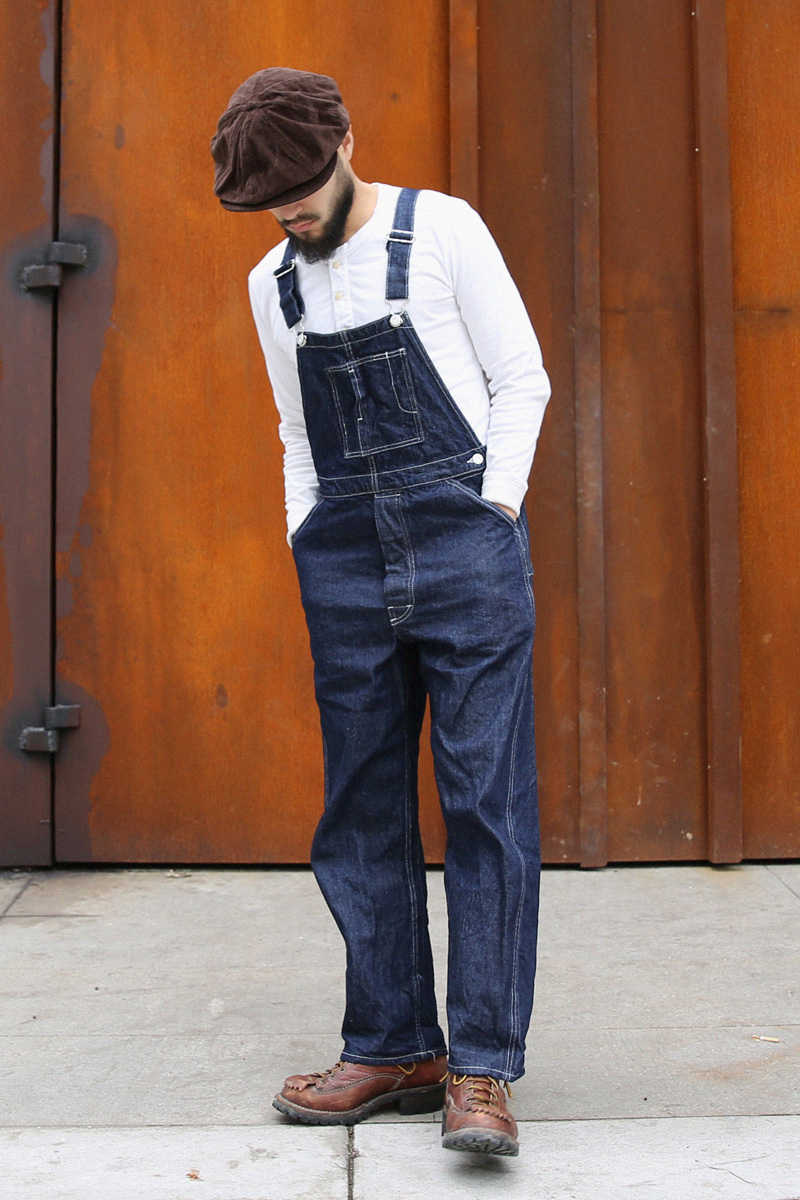 Bronson Vintage 1920s Denim Bib Overalls Men's Workwear Pants Selvedge High Rise
