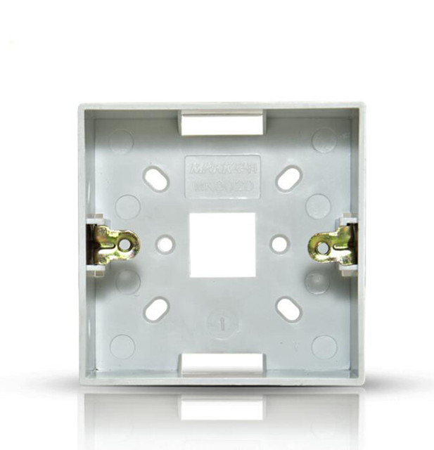 Switch Panel Surface Mounted Square Corners Bottom Box 86 type Wall ...