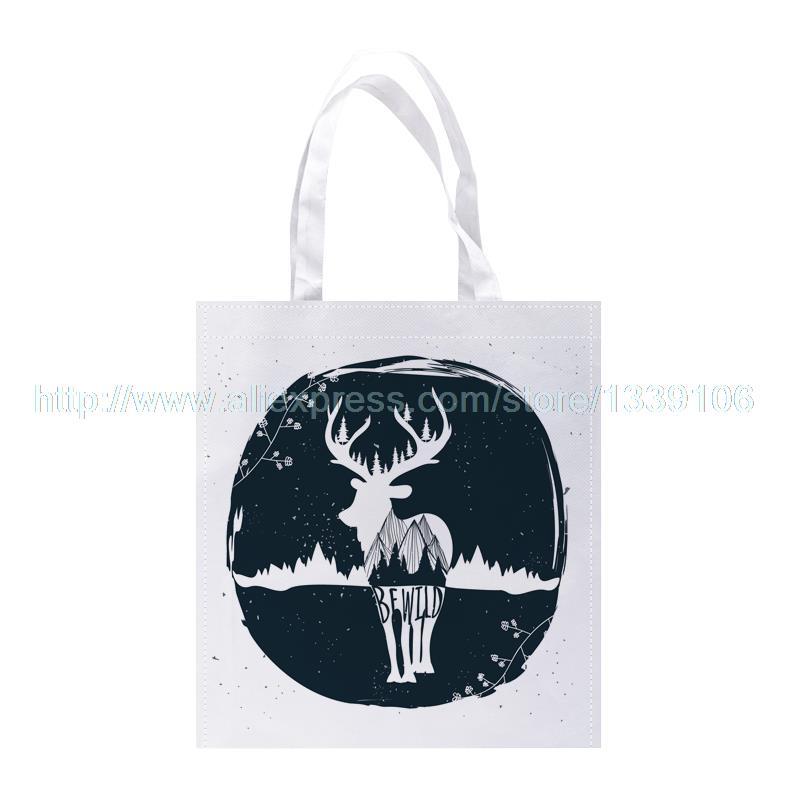 ᗚ4 unids/lote WFWILD Deer Impresión Personalizada Bolsas de la ...