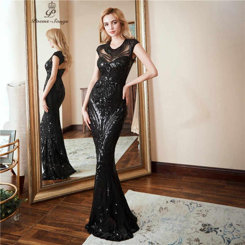 שירי Songs2019 אישיות שמלת ערב vestido דה festa סקסי שחור ארוך נצנצים לנשף שמלות צד פורמלי שמלת שמלת רעיוני