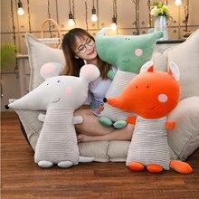 Travesseiro infantil de 35-70cm, mouse de desenho animado de raposa e strass almofada de algodão macio para crianças, brinquedo de quarto de bebê decoração de crianças presente