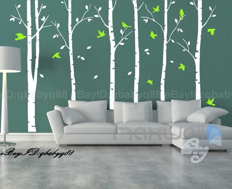 Tree Wall Sticker Giant Stunning Birch Birds Tree Forest Art Wall Sticker  Tree Wall Sticker Living ... Part 97