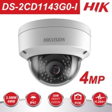HIK 4MP PoE IP Camera H.265 DS-2CD1143G0-I HD CMOS Network Dome CCTV Cameras 30M IR Clear Night version P2P Remote Access цена