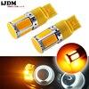 (2) אין הנגד צריך אמבר צהוב 240-פולט COB LED 7440 T20 LED נורות עבור קדמי או אחורי איתות אורות (אין Hyper פלאש)