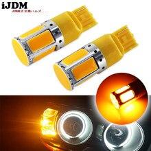 (2) hiçbir direnç gerekir Amber sarı 240-emitter COB LED 7440 T20 LED ampuller ön veya arka dönüş sinyal ışıkları (Hyper flaş yok)