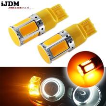 (2) hiçbir direnç gerekir Amber sarı 240 emitter COB LED 7440 T20 LED ampuller ön veya arka dönüş sinyal ışıkları (Hyper flaş yok)