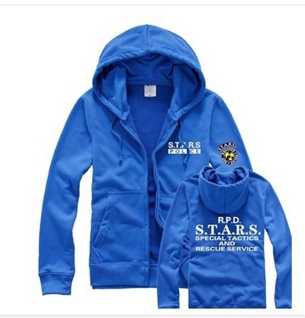 Resident Evil S.T.A.R.S Special tactics of search and rescue team PlugSuit Zip hoodie/coat/jackets 5 colors XS-2XL