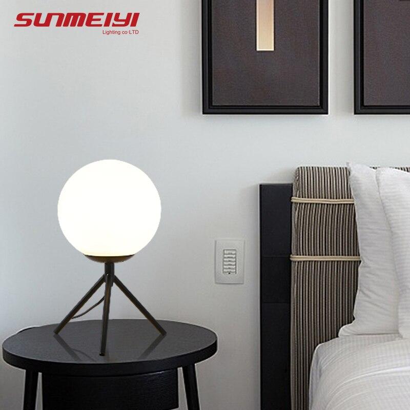 Lampes de table LED nordique or Art déco lampe de lit pour salon étude lampe de chevet de chambre lampes de chevet lampe de bureau