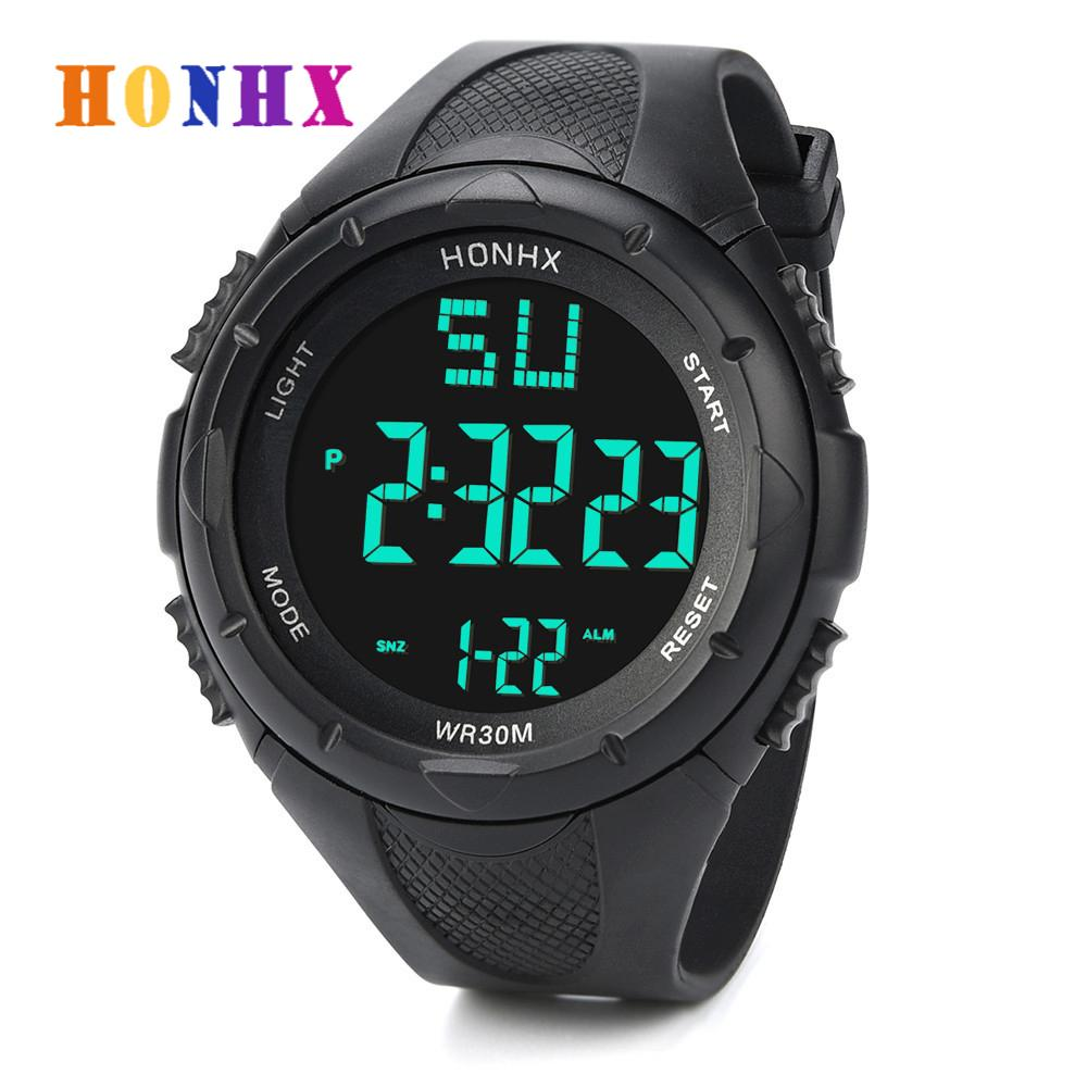 HONHX Luxury Brand Mens Sports Watch Waterproof Digital LED Military Watch Children Casual WristWatch Relojes Hombre 2020