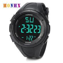 HONHX Luxury Brand Mens Sports Watch Waterproof Digital LED Military Wa