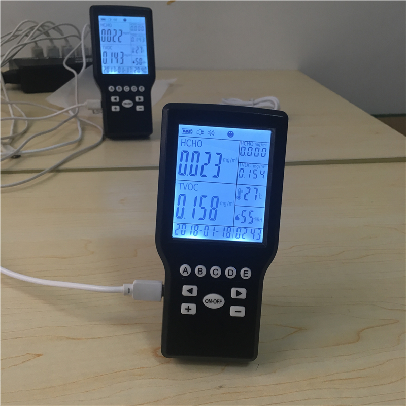 indoor formaldehyde air quality monitor pollution meter 0 2000ppm range wall mount indoor air quality temperature rh carbon dioxide co2 monitor digital meter sensor controller