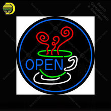 Open Inside Coffee Cup Neon Sign coffee Neon Bulbs sign Iconic Beer Bar Pub Club Neon light Lamps Sign shop display advertise(China)