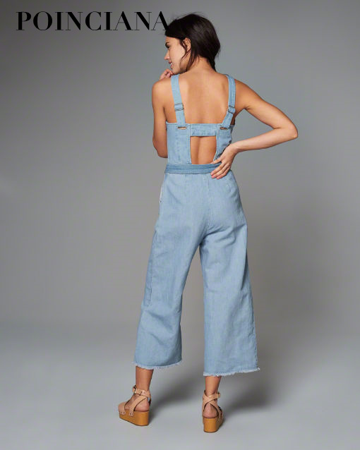 4d7c3f19f72 Aliexpress.com   Buy 2017 Summer European Style Backless Bow Sashes Denim  Jumpsuits female denim overalls Ankle Length Pants Light Blue Casual Sexy  from ...