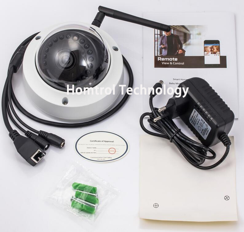 US $69 9 |Homtrol Wifi Standalone Dome IP Camera 720P with Day Night  Imaging Support Motion Detection & Sensitivity Control Adjustment-in  Surveillance