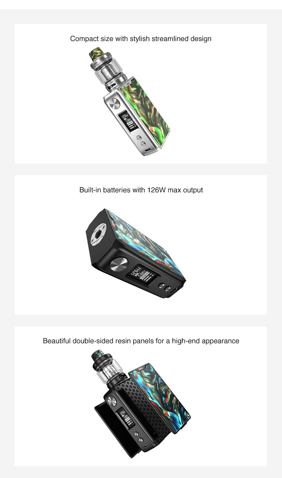 , Newest Original IJOY Shogun JR Resin 126W TC Kit 4500mAh Battery & 2ml/6ml Shogun Tank Ecig Vape Kit VS Shougun Univ/ Drag 2