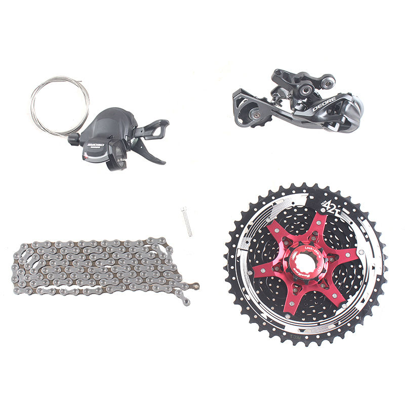 Shimano DEORE M610 1x10S 10S Speed 11-42T MTB Bicycle Groupset with Shifter lever & Rear Derailleur & Chain & Sunrace Cassette bicycle mtb 3x10 30 speed front rear shifter derailleur groupset for shimano m610 m670 m780 system