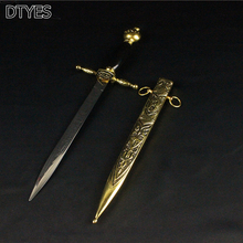Fashion Gifts Beautiful Carved Medieval Sword Stainless Steel Blades Short Small Sword Vintage Home Decor Little sword
