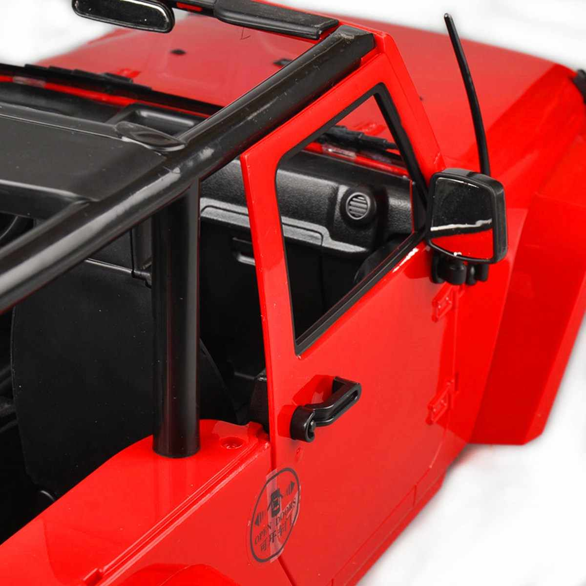 Cubierta de cuerpo duro dosel J eep RC 1/10 SCX10/D90 camión de orugas de roca rojo