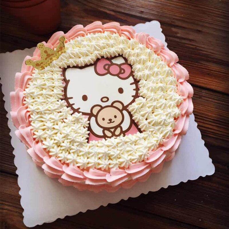 1 Pcs Hello Kitty Wafer A4 Kertas Dimakan Kue Topper Dimakan