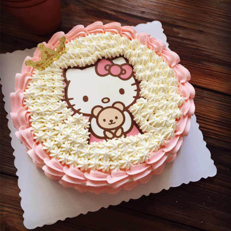1PCS A4 Hello Kitty Wafer Paper Edible Cake Topper Edible ...
