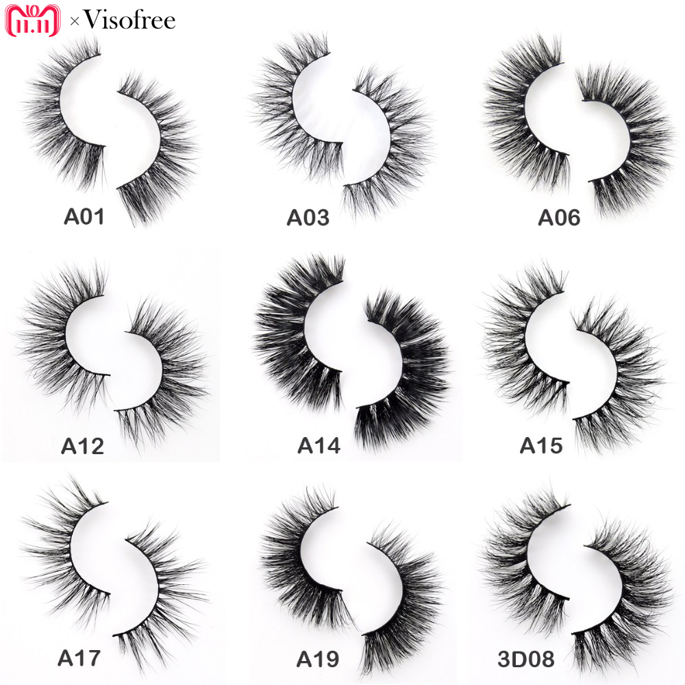 10cde3fb239 Visofree Eyelashes 3D Mink Eyelashes Crossing Mink Lashes Hand Made Full Strip  Eye Lashes 34 Styles New Package cilios naturais-in False Eyelashes from ...