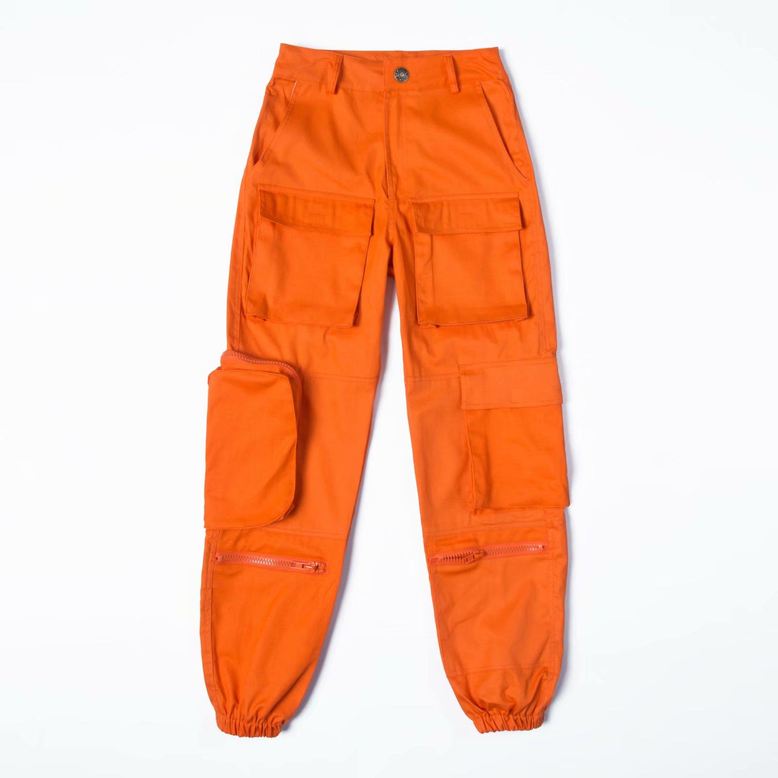 Fashion black high waist   pants   women cargo   pants   Streetwear loose joggers cotton   Capri   trousers female sweatpants 2019