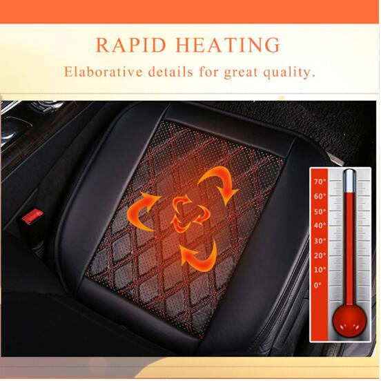 New 12V Heated Car Seat Cushion Low Pressure Carbon Fiber Warm Electric Heating Car Seats Cover Seat Pad Auto Seat for Winter
