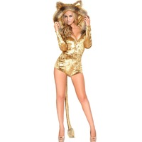 FGirl Cosplay Costume Sexy Halloween Costumes For Women Halloween Masquerade Cosplay Lion Costume FG31451