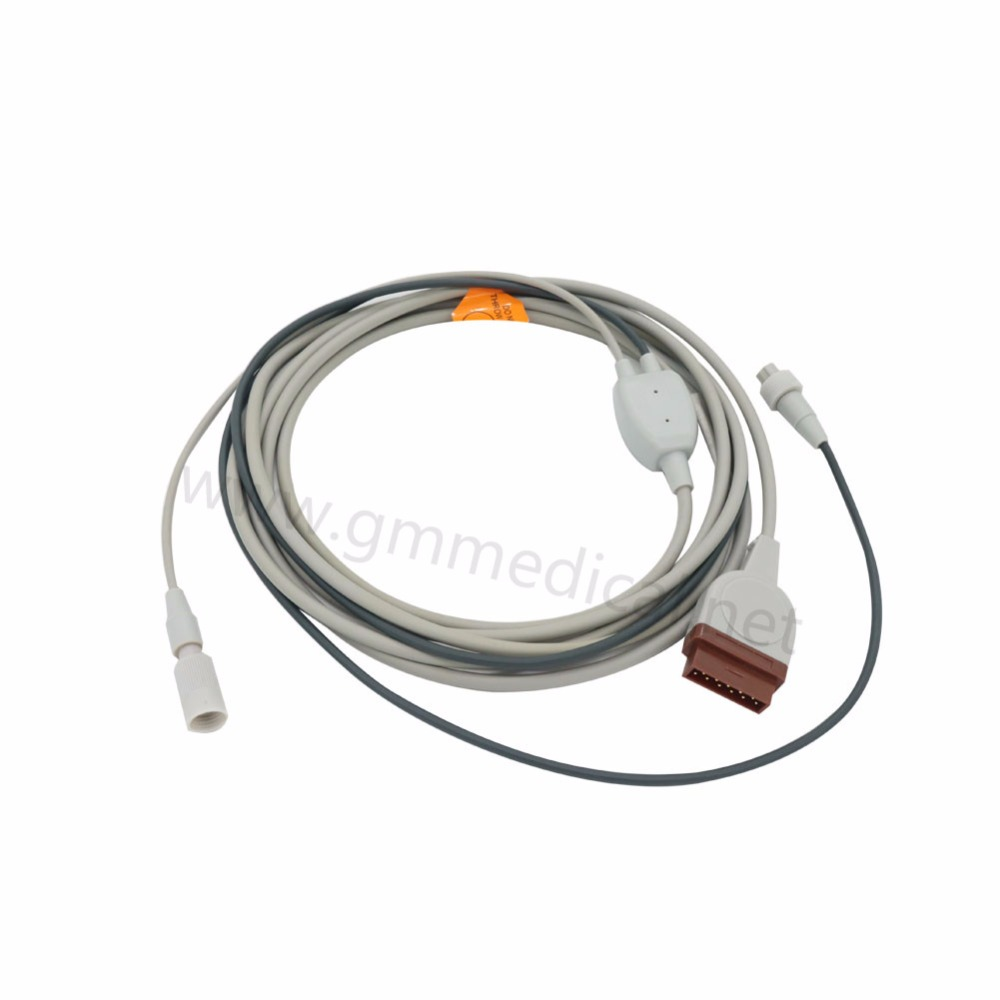 цена на Cardiac Output Cable Compatible with GE Medical,OEM P/N 2025248-002,Length=2.7m,11pin